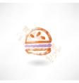 hamburger grunge icon vector image