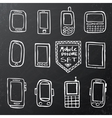 Hand drawn set of isolated mobile gadgets vector image