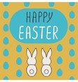 Happy Easter greeting card with bunnies vector image vector image