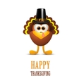 happy thanksgiving with turks in hat vector image vector image