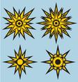 heraldic star vector image vector image