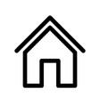 home sign symbol house outline modern design vector image vector image