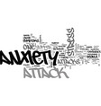 is it stress or an anxiety attack text background vector image vector image