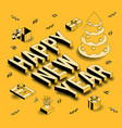 isometric greeting card vector image vector image