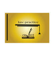 justice law firm book logo design template vector image