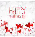 light background with red hearts vector image vector image