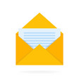 mail envelope icon with documents email send vector image vector image