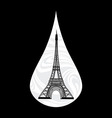 Metaphoric of France Crying tear mourning Paris on vector image vector image