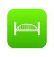 modern arch bridge icon green vector image vector image