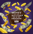 money and success quotes vector image vector image