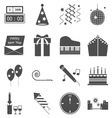 New year gray icons on white background vector image