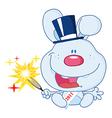 New years rabbit cartoon vector image vector image