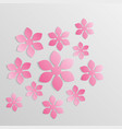 paper flower origami5 vector image vector image