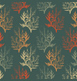 pattern with leaves on dark background vector image vector image