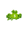 pile cash a lot money green banknote and vector image