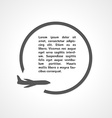 plane symbol and circle vector image vector image