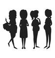 pregnancy motherhood people expectation black vector image vector image