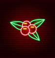 rowanberry neon sign vector image vector image