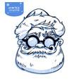 santa claus face cartoon character christmas vector image vector image