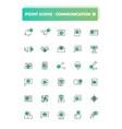 set 30 line icons communication vector image