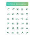 set of 30 line icons communication vector image vector image