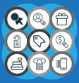 set of 9 commerce icons includes business vector image vector image