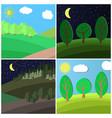 set of summer landscape vector image vector image