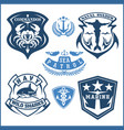 set scuba diving club and diving school design vector image