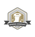 sewing company isolated retro label vector image vector image