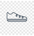 shoes concept linear icon isolated on transparent vector image