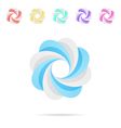 Spiral colored segmented circles vector image