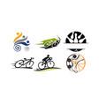 sport template set vector image