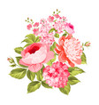 summer flowers bouquet vector image vector image