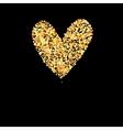 Symbol golden heart vector image vector image