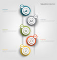 time line info graphic with round abstract design vector image vector image