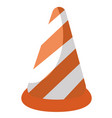 traffic cone cartoon vector image
