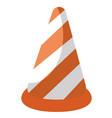 traffic cone cartoon vector image