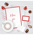 Valentine Day Scene Creator Mock up vector image