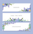 watercolor flowers with text banner lush flowers vector image vector image