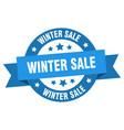 Winter sale ribbon winter sale round blue sign