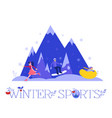 winter sports with people vector image vector image