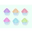 cartoon cupcakes vector image