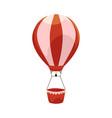 hot air balloon ride in amusement park vector image