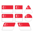 buttons with flag of Singapore vector image
