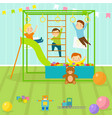 kids playroom with light furniture decor vector image