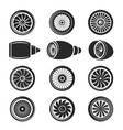 airplane turbine icon set vector image vector image