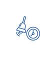 alarmschool bell line icon concept alarmschool vector image vector image