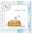 baby bathe in a small pool shower announcement vector image vector image