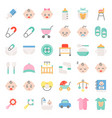 baby shower flat icon set vector image