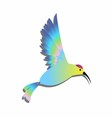 Bird clipart logo colorful vector image vector image